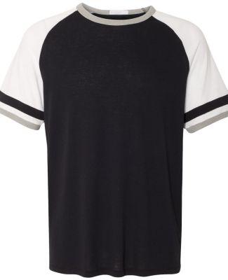 Alternative 5093 Vintage 50/50 Jersey Slapshot Tee Black/ White/ Smoke