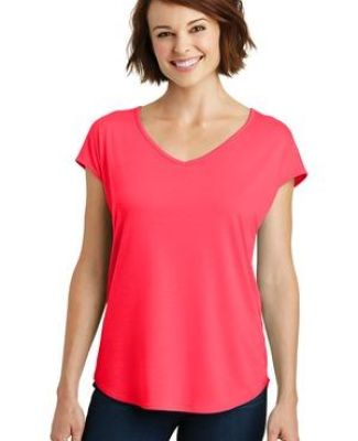 District Made DM416    Ladies Drapey Cross-Back Tee Catalog