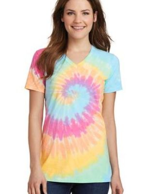 Port & Co LPC147V mpany   Ladies Tie-Dye V-Neck Tee Catalog