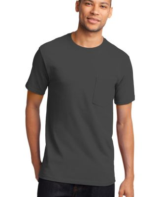 Port & Company PC61PT Tall Essential Pocket Tee Charcoal