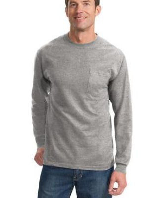 Port & Co PC61LSPT mpany   Tall Long Sleeve Essential Pocket Tee Catalog