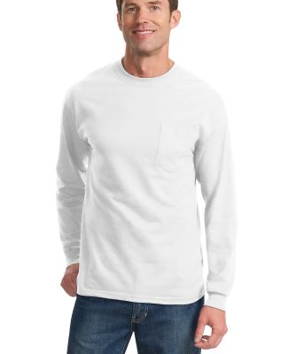 Port & Co PC61LSPT mpany   Tall Long Sleeve Essent White