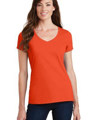 Port & Company LPC450V Ladies Fan Favorite V-Neck  Orange