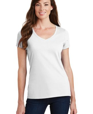 Port & Company LPC450V Ladies Fan Favorite V-Neck  White