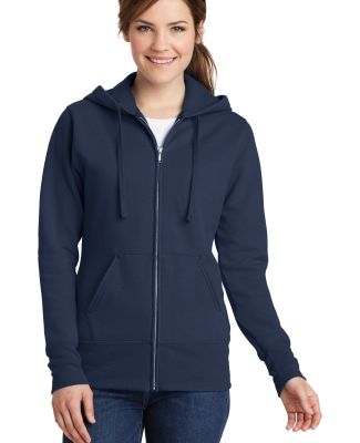 Port & Co LPC78ZH mpany   Ladies Core Fleece Full- Navy