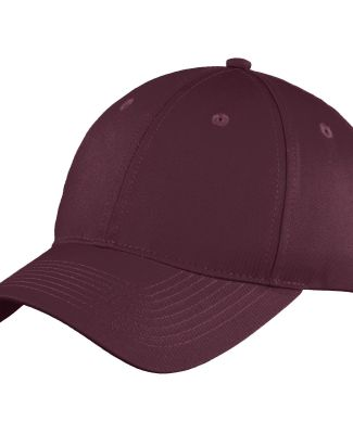 Port & Co C914 mpany   Six-Panel Unstructured Twil Maroon