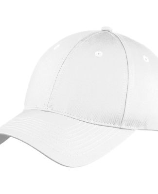 Port & Co C914 mpany   Six-Panel Unstructured Twil White
