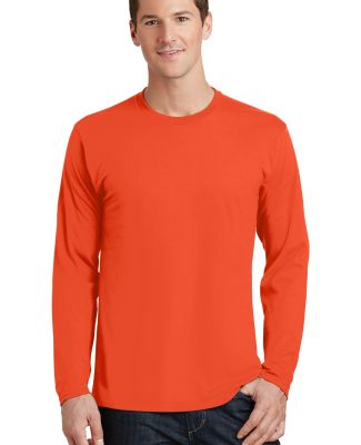 Port & Co PC450LS mpany   Long Sleeve Fan Favorite Orange