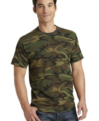 Port & Co PC54C mpany   Core Cotton Camo Tee Military Camo