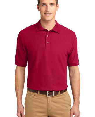 Port Authority K500ES    Extended Size Silk Touch  Red