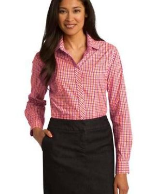Port Authority L654    Ladies Long Sleeve Gingham Easy Care Shirt Catalog