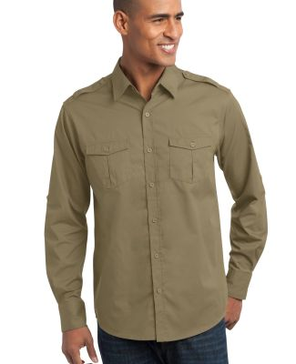 Port Authority S649    Stain-Release Roll Sleeve T Vintage Khaki