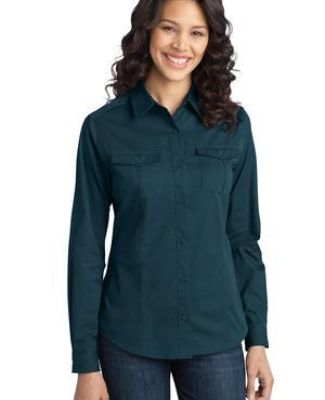 Port Authority L649    Ladies Stain-Release Roll Sleeve Twill Shirt Catalog