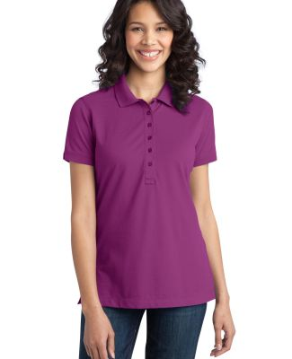 Port Authority L555    Ladies Stretch Pique Polo Pink Bloom