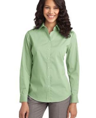 Port Authority L647    Ladies Fine Stripe Stretch Poplin Shirt Catalog