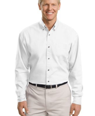 Port Authority TLS600T    Tall Long Sleeve Twill S White