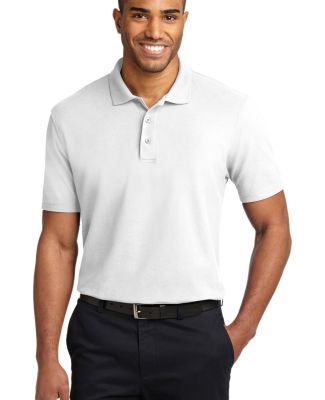 Port Authority TLK510    Tall Stain-Resistant Polo White