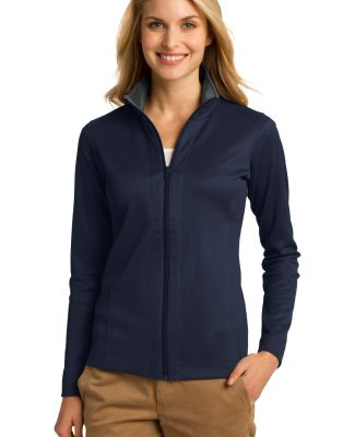Port Authority L805    Ladies Vertical Texture Ful Tr Nvy/Iron Gy
