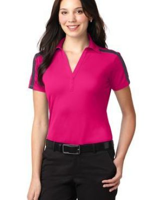 Port Authority L547    Ladies Silk Touch Performance Colorblock Stripe Polo Catalog