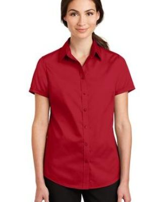 Port Authority L664    Ladies Short Sleeve SuperPro   Twill Shirt Catalog