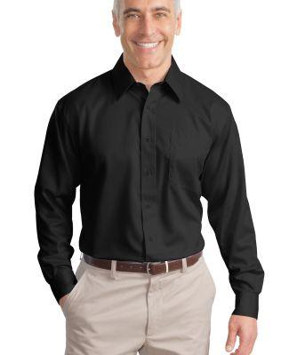 Port Authority TLS638    Tall Non-Iron Twill Shirt Black