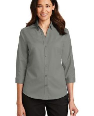 Port Authority L665    Ladies 3/4-Sleeve SuperPro   Twill Shirt Catalog