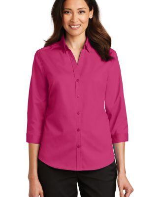 Port Authority L665    Ladies 3/4-Sleeve SuperPro  Pink Azalea