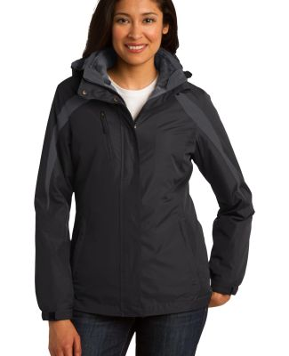 Port Authority L321    Ladies Colorblock 3-in-1 Ja Blk/Blk/Mag Gy