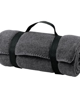 Port Authority BP10    - Value Fleece Blanket with Midnight Hthr