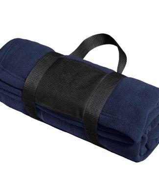 Port Authority BP20    Fleece Blanket with Carryin True Navy