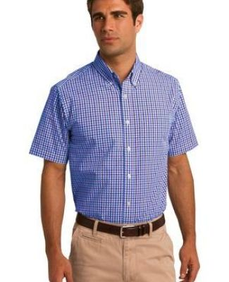 Port Authority S655    Short Sleeve Gingham Easy Care Shirt Catalog