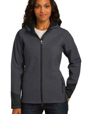 Port Authority L319    Ladies Vertical Hooded Soft Mag Grey/Black