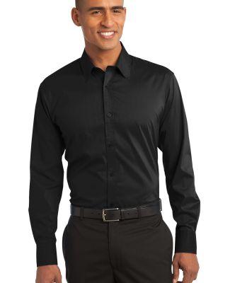 Port Authority S646    Stretch Poplin Shirt Black