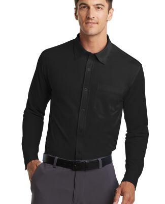 Port Authority K570    Dimension Knit Dress Shirt Black