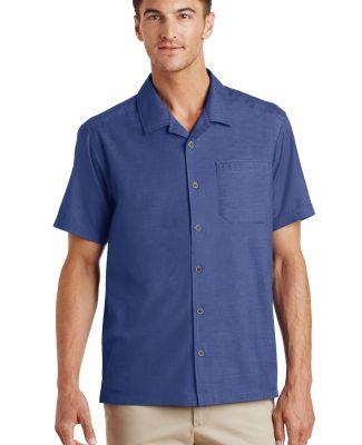 Port Authority S662    Textured Camp Shirt Royal