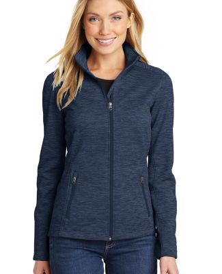 Port Authority L231    Ladies Digi Stripe Fleece J Navy