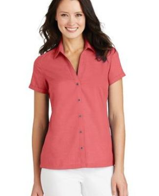 Port Authority L662    Ladies Textured Camp Shirt Catalog