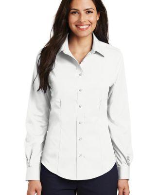 Port Authority L638    Ladies Non-Iron Twill Shirt White