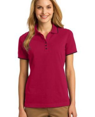 Port Authority L454    Ladies Rapid Dry Tipped Polo Catalog