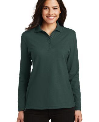 Port Authority L500LS    Ladies Long Sleeve Silk T Dark Green