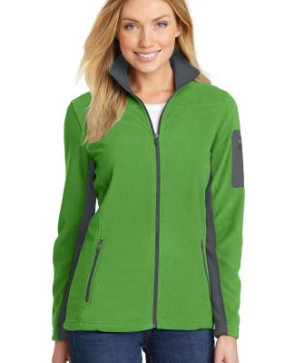 Port Authority L233    Ladies Summit Fleece Full-Z Vine Green/Mag
