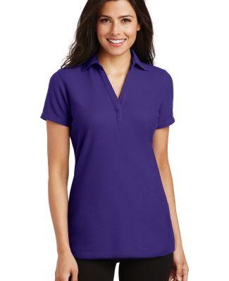 Port Authority L5001    Ladies Silk Touch   Y-Neck Purple