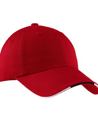 Port Authority C830A    Sandwich Bill Cap with Str Red/Cl Navy/Wh