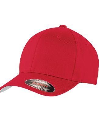 Port Authority C928    Flexfit   Wool Blend Cap Red