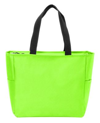 Port Authority BG410    Essential Zip Tote Neon Green