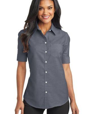 Port Authority L659    Ladies Short Sleeve SuperPr Black