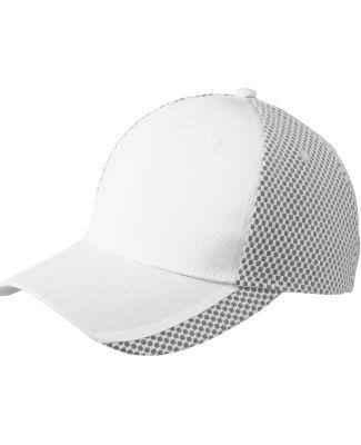 Port Authority C923    Two-Color Mesh Back Cap White/Black