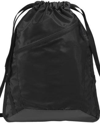 Port Authority BG616    Zip-It Cinch Pack Black/Blk