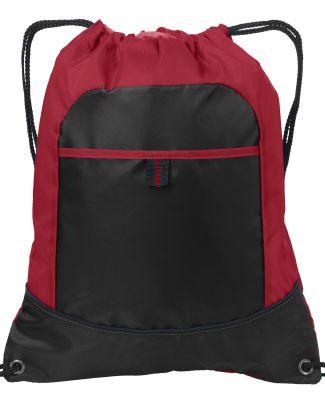 Port Authority BG611    Pocket Cinch Pack Tr Red/Black