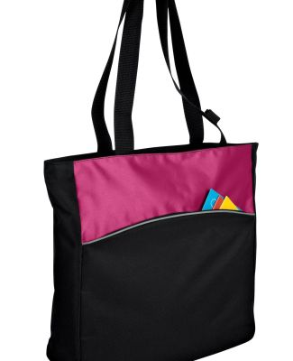 Port Authority B1510    - Two-Tone Colorblock Tote Blk/Passion Pk